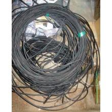 Оптический кабель Б/У для внешней прокладки (с металлическим тросом) в Павловском Посаде, оптокабель БУ (Павловский Посад)