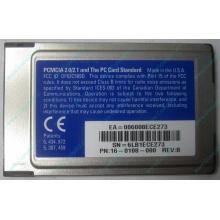 Сетевая карта 3COM Etherlink III 3C589D-TP (PCMCIA) без LAN кабеля (без хвоста) - Павловский Посад